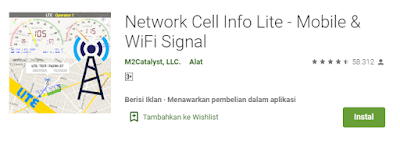 aplikasi tes kecepatan internet network cell info apk