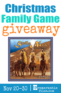 Enter to win a free copy of Stella Nova: the Christian family board game that keeps Christ in your family's Christmas! Learn about Jesus, have family fun, and create new Christmas traditions. Giveaway ends November 30th! #giveaway #christmas #christian #nativity #jesus #kids #family