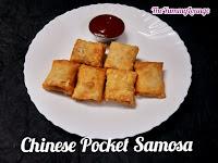 Chinese Pocket Samosa is unique Indo-Chinese veg starter and snacks recipe.