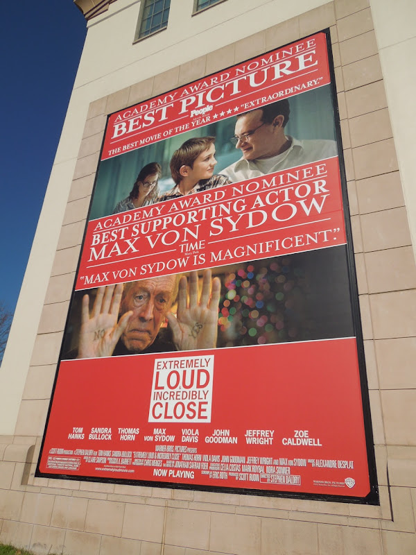 Extremely Loud Best Picture billboard