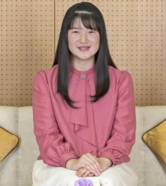 Japanese Princess Aiko, the only child of Emperor Naruhito and Empress Masako. Gakushin Girls' Senior High School in Tokyo