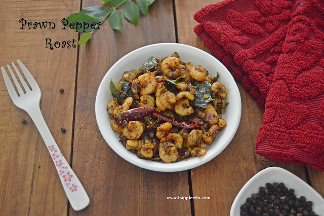 Prawn Pepper Roast Recipe | Iral Milagu Varuval Recipe