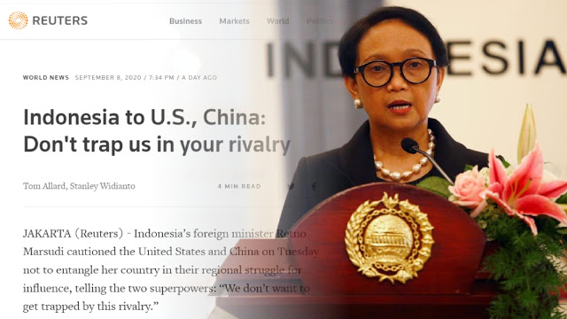 Pernyataan Menteri Luar Negeri (Menlu) Indonesia tentang konflik China-Amerika Serikat (AS) ramai disorot media asing
