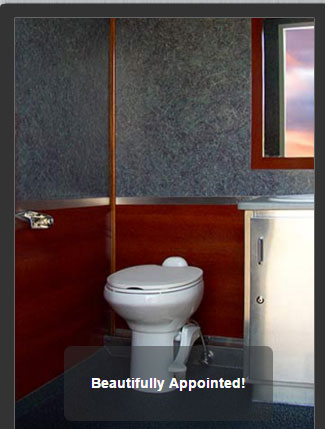 The Newport 1100 Flushing Toilet