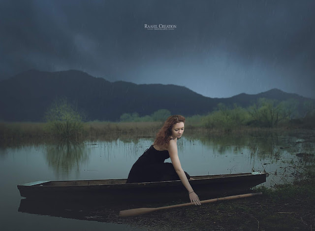 Girl on Boat - Photoshop Manipulation Photo Effects Tutorial