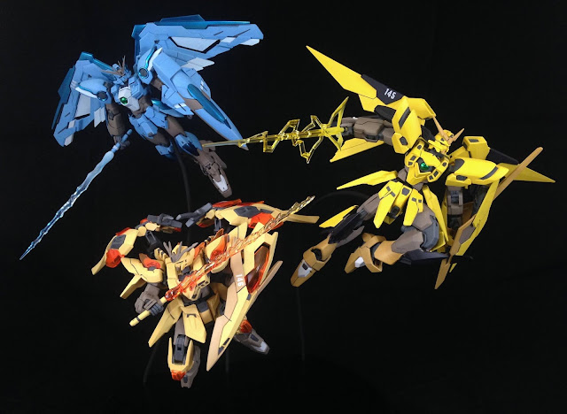 Team GO Pokemon Legendary Bird Trio x GunPla by Khris Ramirez