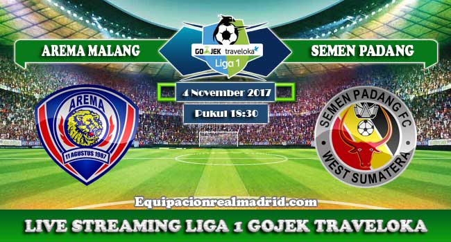 live streaming arema malang vs semen padang 5 november 2017