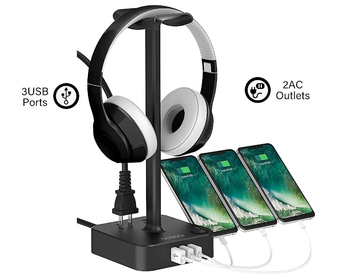 COZOO Headphone Stand with USB Charger review