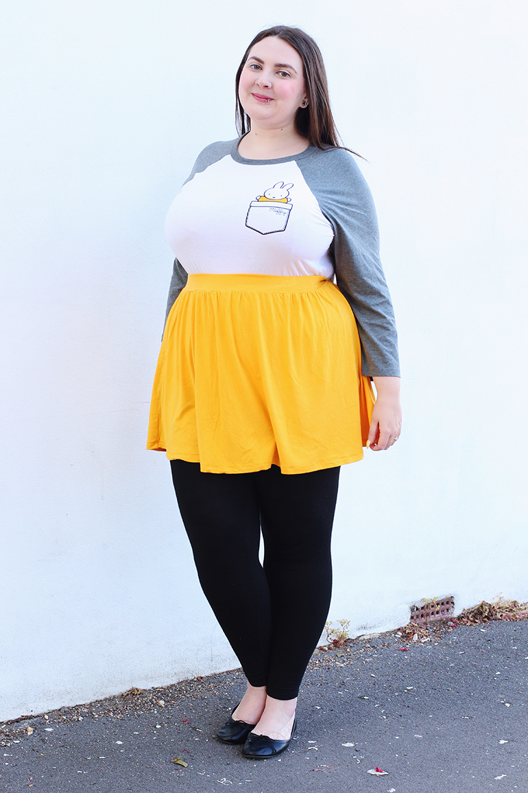 Plus size TruffleShuffle yellow skirt