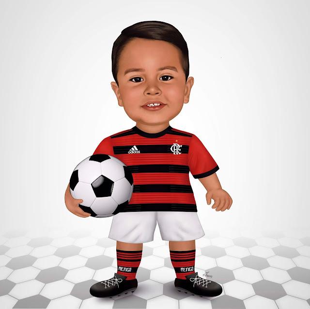 Caricatura infantil - Flamengo