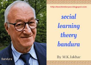 बंडूरा का सामाजिक अधिगम सिद्धांत, Bandura social learning theory in hindi
