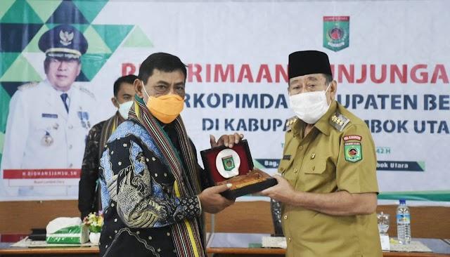 Bupati Lombok Utara Menerima Kunker Forkopimda Kabupaten Belitung