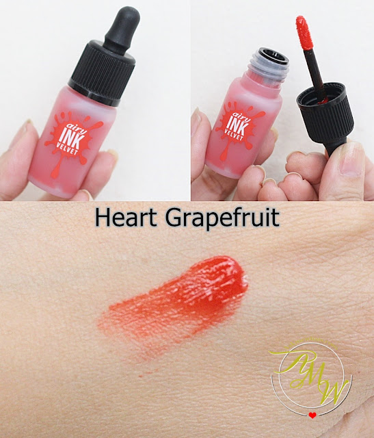 a photo of PeriPera's Airy Ink Velvet Heart Grapefruit