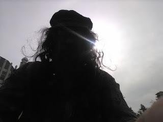 Ahgamen Keyboa silhouette 2020, wearing Greek fishermans hat