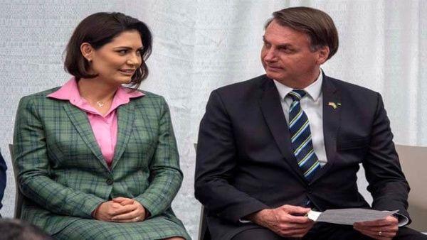 Esposa del presidente brasileño Bolsonaro da positivo a Covid-19