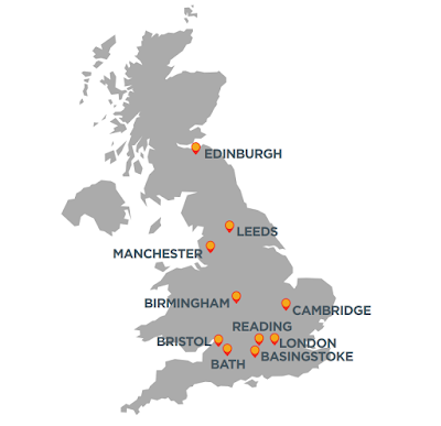 Tech Town Report, CompTIA 2019 - tech hotspots in the UK