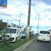 Acidente entre três carros na av. Felizardo Moura, sentido Zona Norte