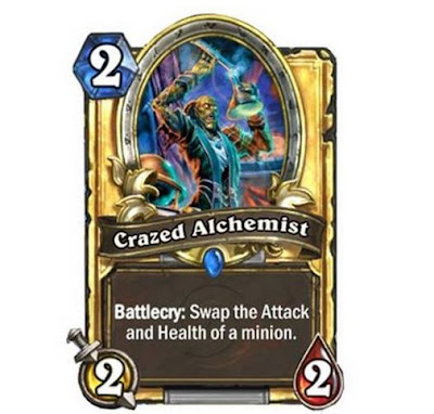 True or False: Crazed Alchemist's battlecry can destroy minion with 0 attack.