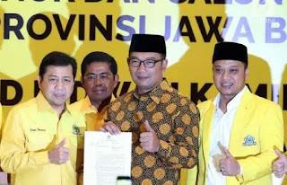 Golkar Cabut Dukungan untuk Ridwan Kamil di Pilgub Jabar 2018