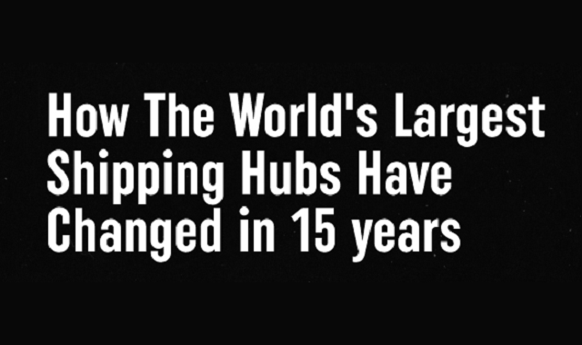 The timeline of the biggest Shipping hubs over the years