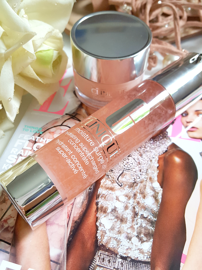 Review: CLINIQUE - Moisture Surge Hydrating Supercharged Concentrate und Moisture Surge Extended Thirst Relief Gel Creme