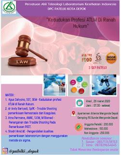 Seminar PATELKI DPC Kota Depok  Kedudukan Profesi ATLM di Ranah Hukum