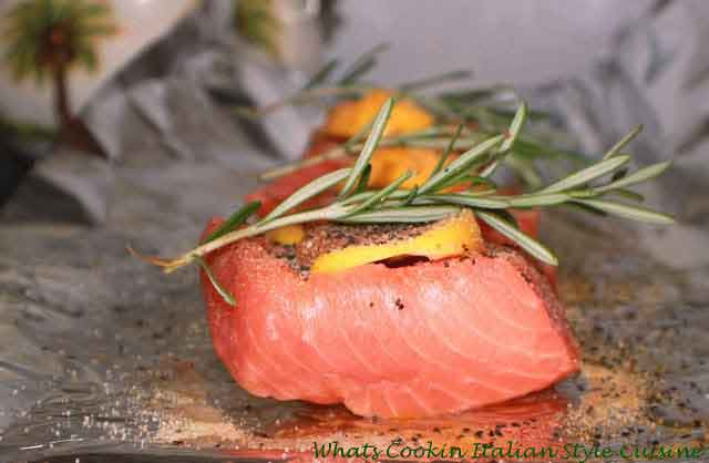 this is raw salmon