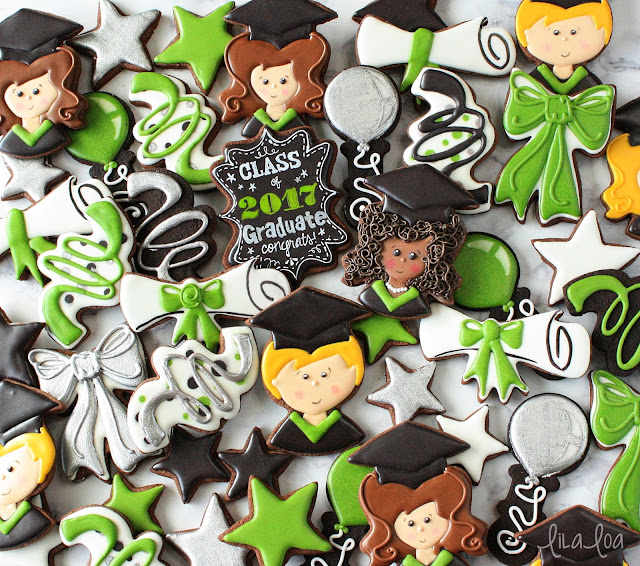 Graduation cookie decorating tutorial -- with video!