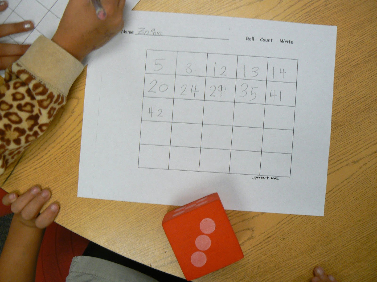 Mrs T S First Grade Class Counting On Activities