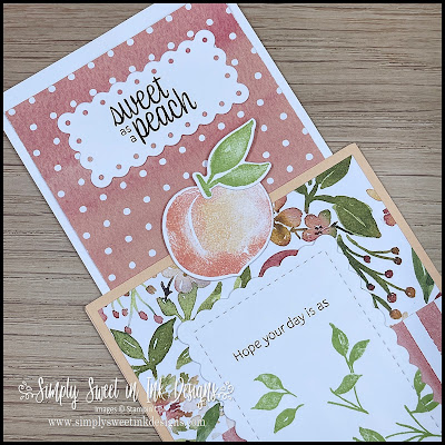 Surprise them with this fun magnet card using the You're a Peach suite!