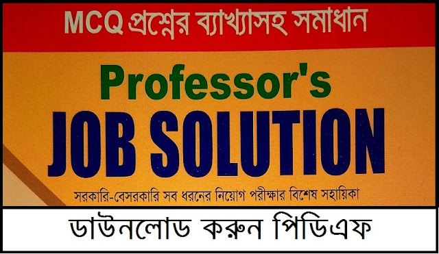 Professor's Job Solution PDF (2019)
