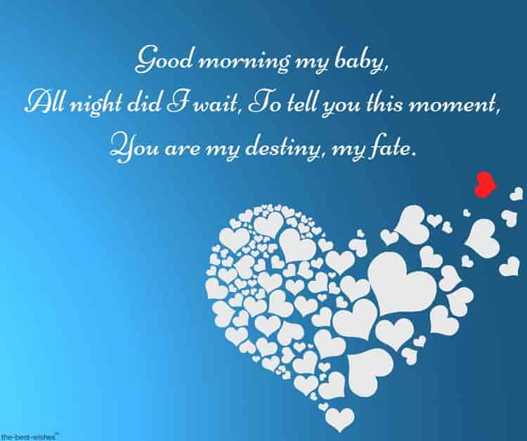 cute good morning poems for her