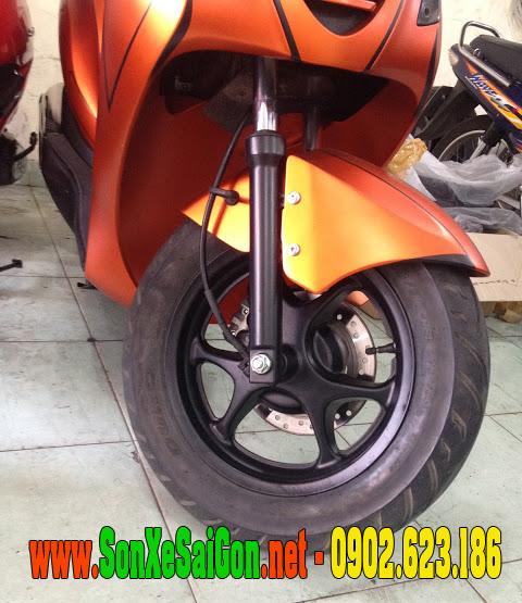 Mẫu sơn xe Honda PS màu cam nhám Z1000 tem chỉ đen