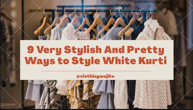 how to style white kurti