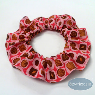 Chocolate Truffles Valentine Candy Dog Scrunchie Neck Ruffle