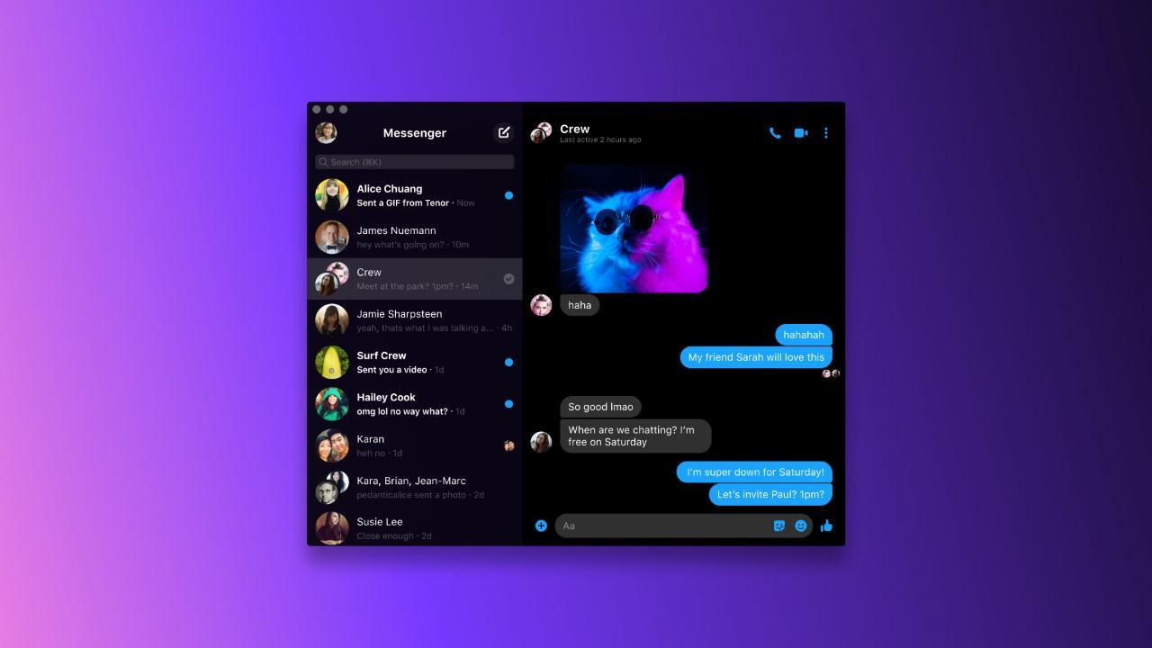 Impostazioni di chiamata su Messenger App per Windows 10