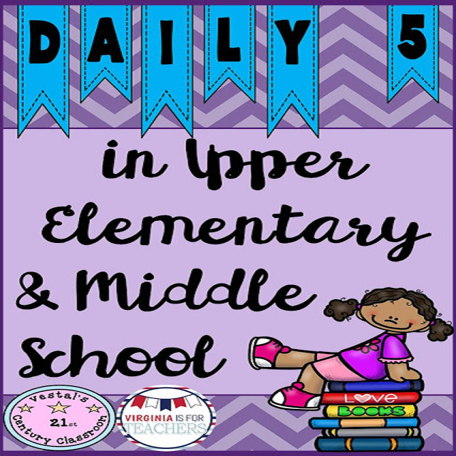 Using Daily 5 in upper elementary and middle school with Read to Self, Word Work, and Work on Writing.