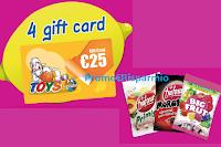 Logo Concorso Dufour : in palio ogni giorno 4 Gift Card Toys Center da 25€