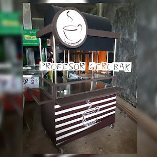 gerobak kopi susu unik