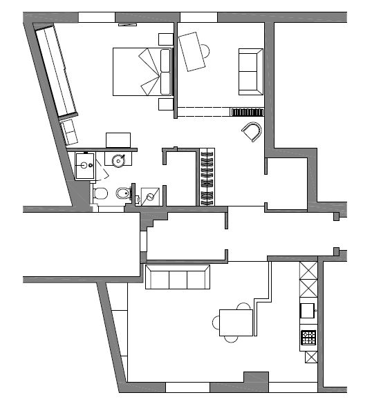 Interior Relooking: Unire due appartamenti adiacenti