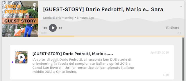 https://anchor.fm/storiediorienteering/episodes/GUEST-STORY-Dario-Pedrotti--Mario-e----Sara-ed70hp