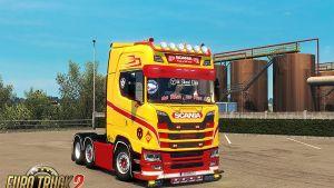 Scania 2016 Red & Beige Interior