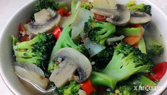 Resep tumis jamur kancing brokoli
