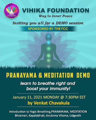 Monday Night Masterclass: Pranayama and Meditation Demo - Jan 11, 2021