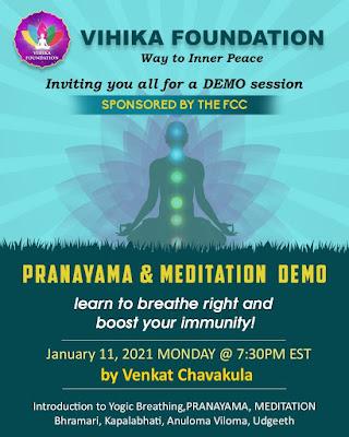 Monday Night Masterclass: Pranayama and Meditation Demo - Jan 11, 2021