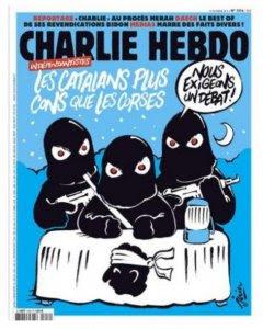 Charlie Hebdo , Los catalanes, más tontos que los corsos