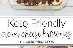 KETO CREAM CHEESE BROWNIES