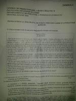 Subiecte gradul II limba romana Targu Mures, august 2015