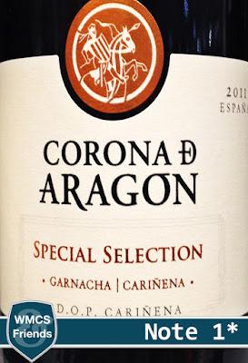Corona De Aragon Special Selection Garnacha Carinena 2011
