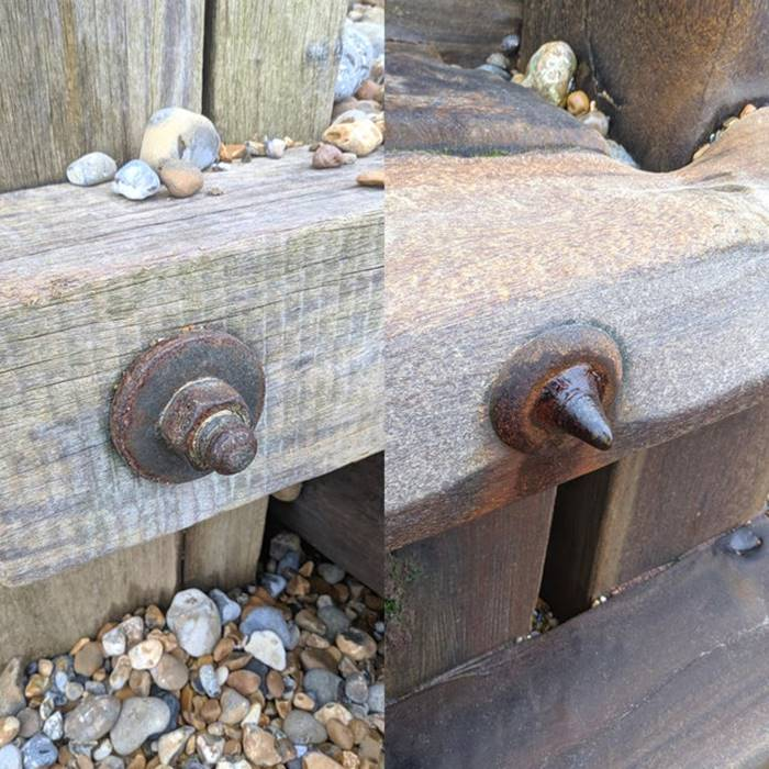 Bolt and nut: far from water and close to the sea